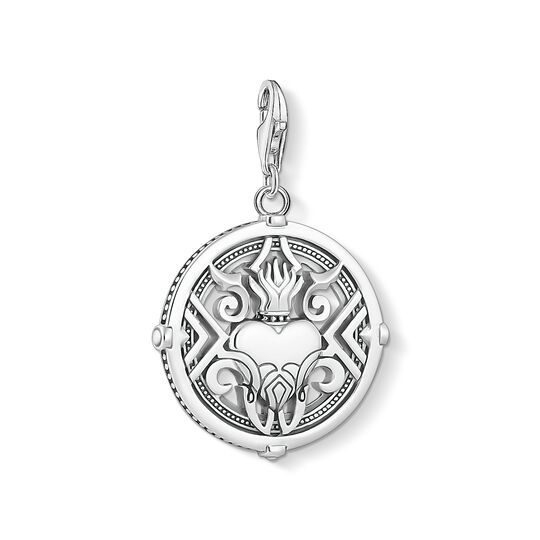 Charm pendant Heart with flames from the Charm Club collection in the THOMAS SABO online store