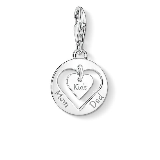 """Charm pendant """"heart MOM, DAD, KIDS"""" from the  collection in the THOMAS SABO online store"""
