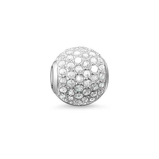 Bead pavé blanc de la collection Karma Beads dans la boutique en ligne de THOMAS SABO