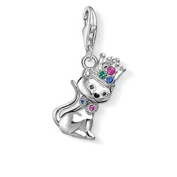 Charm pendant Cat with crown  from the  collection in the THOMAS SABO online store