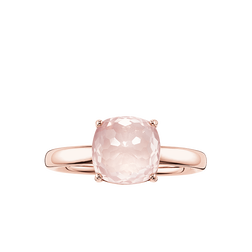 """anello solitario """"rosa"""" from the Glam & Soul collection in the THOMAS SABO online store"""