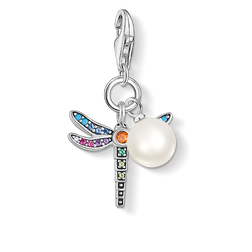 charm pendant dragonfly silver pearl from the Charm Club Collection collection in the THOMAS SABO online store