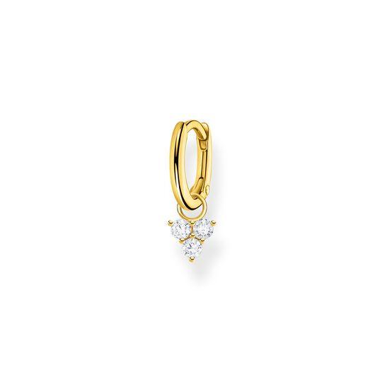 Einzel Creole mit weiße Steine gold aus der Charming Collection Kollektion im Online Shop von THOMAS SABO
