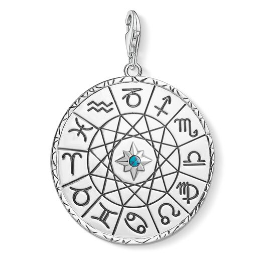 """Charm pendant """"Star sign coin silver"""" from the  collection in the THOMAS SABO online store"""