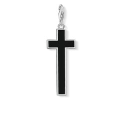 Charm pendant black cross from the Charm Club Collection collection in the THOMAS SABO online store