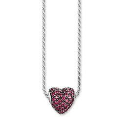"necklace ""red pavé heart"" from the Karma Beads collection in the THOMAS SABO online store"