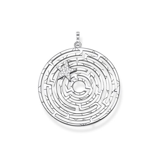 pendant Labyrinth with silver star from the  collection in the THOMAS SABO online store
