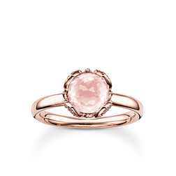 "solitaire ring ""pink lotus flower"" from the Glam & Soul collection in the THOMAS SABO online store"
