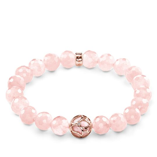 "bracelet ""pink lotus flower"" from the Glam & Soul collection in the THOMAS SABO online store"