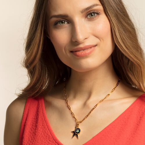 """Charm pendant """"Golden star"""" from the  collection in the THOMAS SABO online store"""