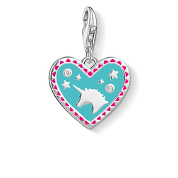 Charm pendant Heart with unicorn  from the  collection in the THOMAS SABO online store