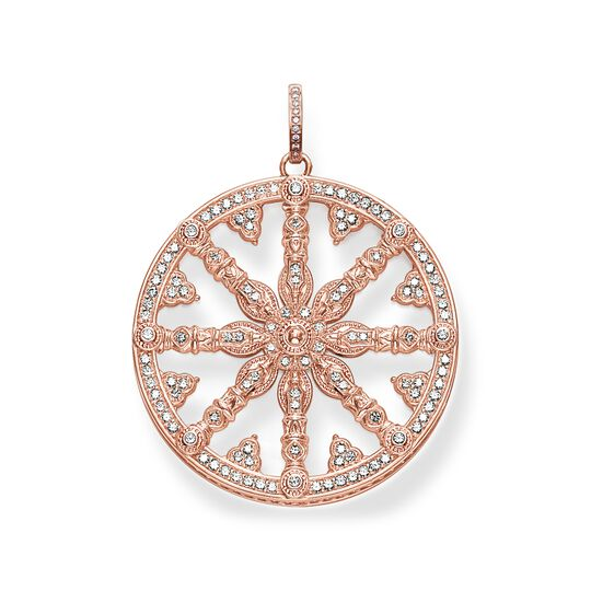pendant diamond Karma Wheel from the  collection in the THOMAS SABO online store