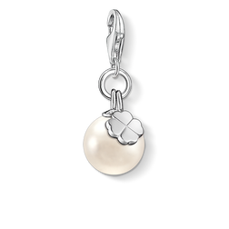Charm pendant pearl with cloverleaf from the Charm Club Collection collection in the THOMAS SABO online store