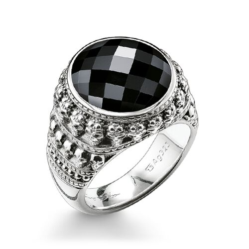 "ring ""skull"" from the Rebel at heart collection in the THOMAS SABO online store"