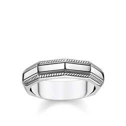 bague Anguleux argent de la collection Rebel at heart dans la boutique en ligne de THOMAS SABO