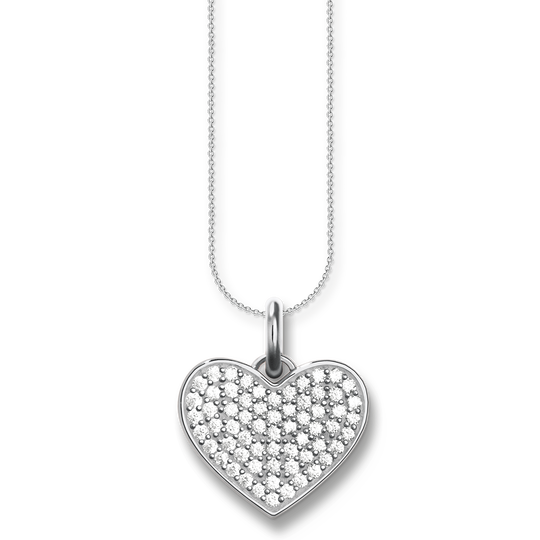 necklace heart pavé from the Love Bridge collection in the THOMAS SABO online store