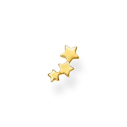 Single ear stud stars gold from the Charming Collection collection in the THOMAS SABO online store