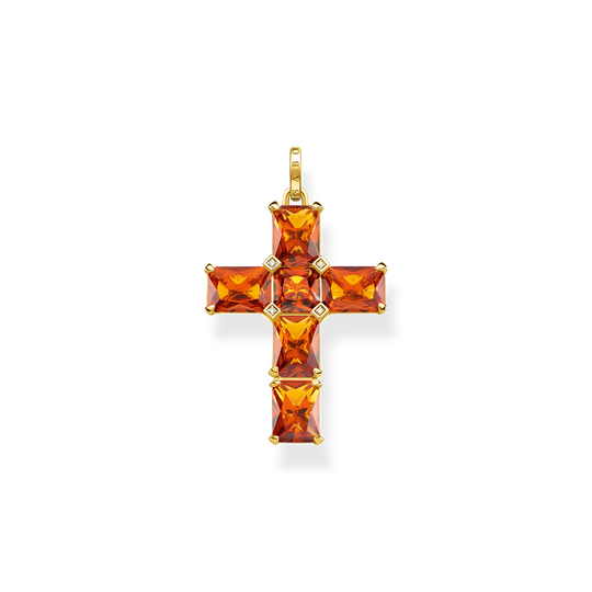 Pendant cross orange stones from the Glam & Soul collection in the THOMAS SABO online store