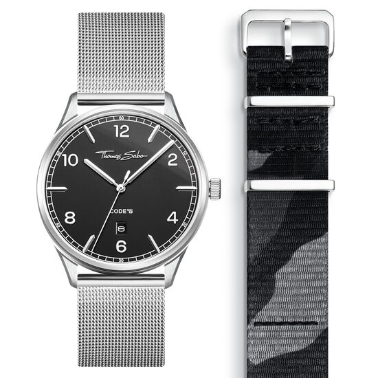 SET CODE TS black watch & camouflage strap from the  collection in the THOMAS SABO online store