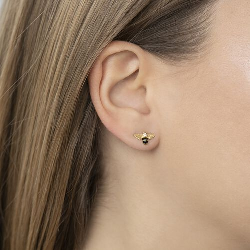 "ear studs ""bee"" from the Glam & Soul collection in the THOMAS SABO online store"