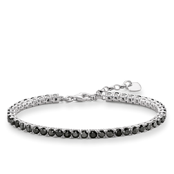 "tennis bracelet ""black"" from the Glam & Soul collection in the THOMAS SABO online store"