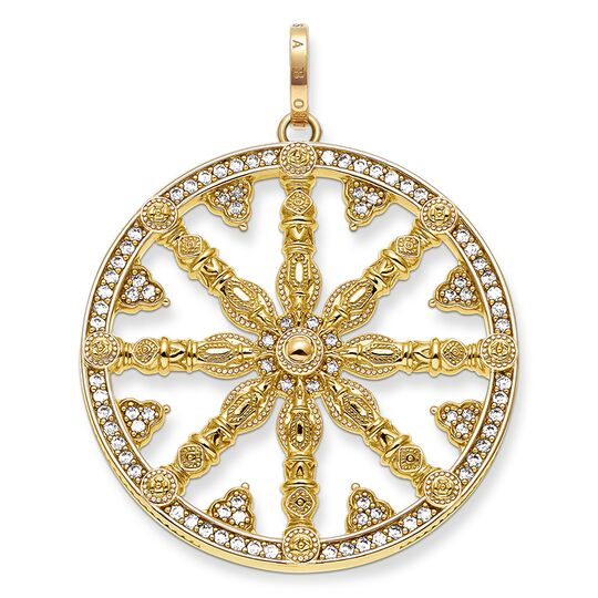"pendant ""Karma Wheel pavé"" from the Karma Beads collection in the THOMAS SABO online store"