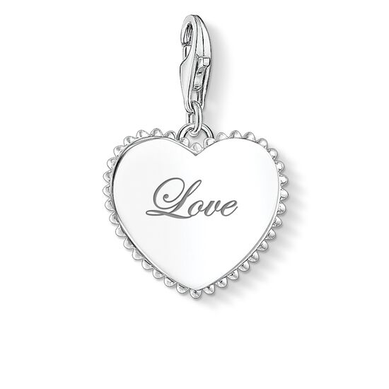 "Charm pendant ""heart love"" from the Glam & Soul collection in the THOMAS SABO online store"
