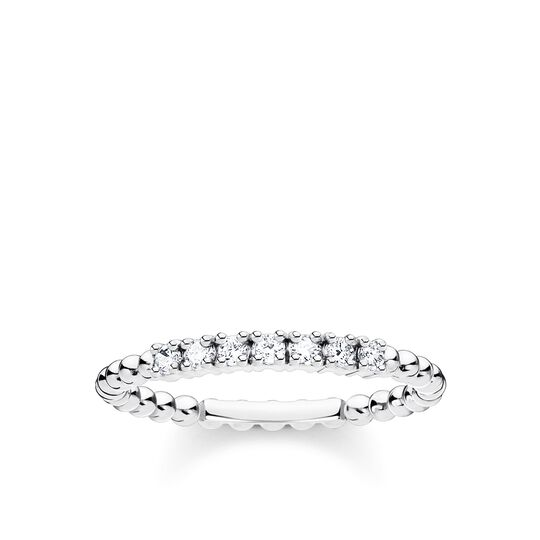 Ring dots with white stones silver from the Charming Collection collection in the THOMAS SABO online store