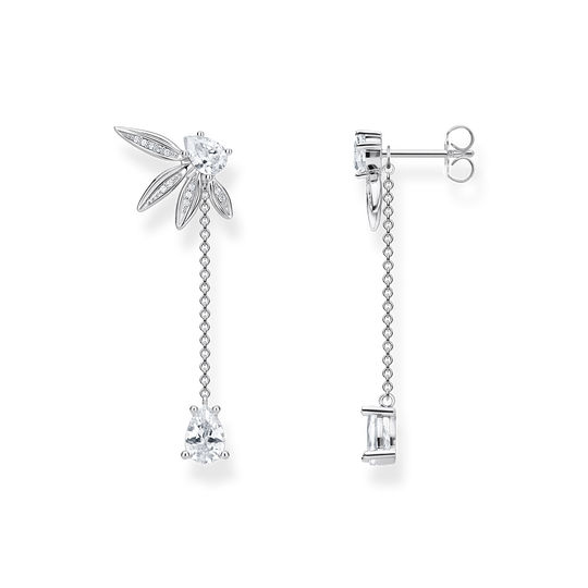earrings leaves with chain large silver from the Glam & Soul collection in the THOMAS SABO online store