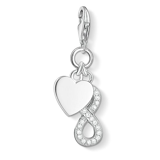 """Charm pendant """"heart with infinity"""" from the  collection in the THOMAS SABO online store"""