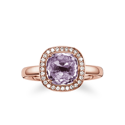 "solitaire ring ""purple"" from the Glam & Soul collection in the THOMAS SABO online store"