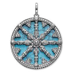 """Anhänger """"Karma Wheel mit Türkis-Scheibe"""" aus der Karma Beads Kollektion im Online Shop von THOMAS SABO"""