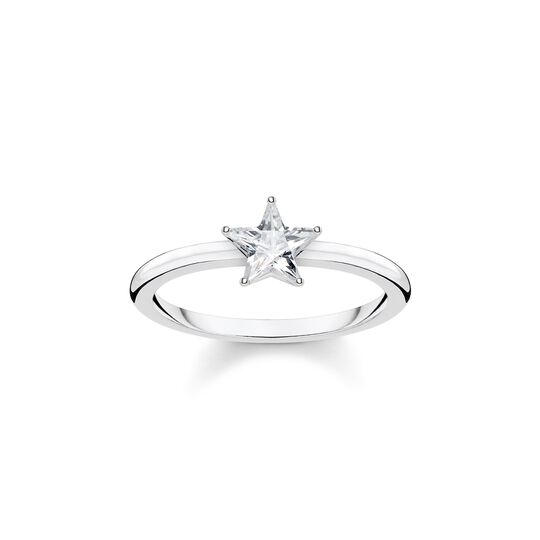 ring Sparkling star, silver from the  collection in the THOMAS SABO online store