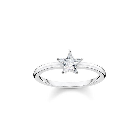 Ring Funkelnder Stern silber aus der  Kollektion im Online Shop von THOMAS SABO