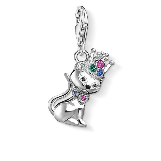 """Charm pendant """"Cat with crown """" from the  collection in the THOMAS SABO online store"""