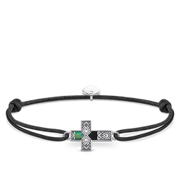 "bracelet ""Little Secret cross abalone mother-of-pearl"" from the Rebel at heart collection in the THOMAS SABO online store"