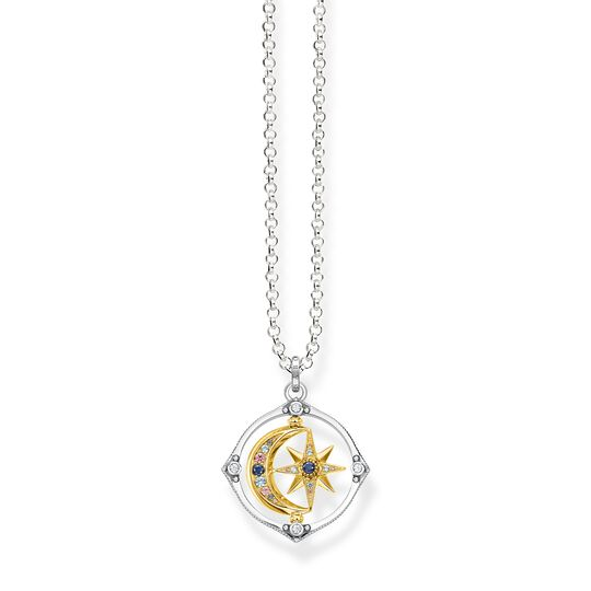 Necklace star & moon gold from the  collection in the THOMAS SABO online store