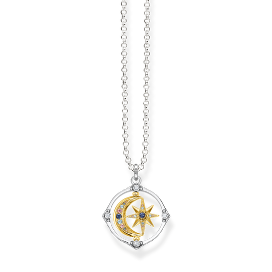 Necklace star & moon gold from the Glam & Soul collection in the THOMAS SABO online store
