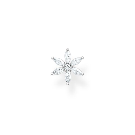 Single ear stud flower white stones from the Charming Collection collection in the THOMAS SABO online store