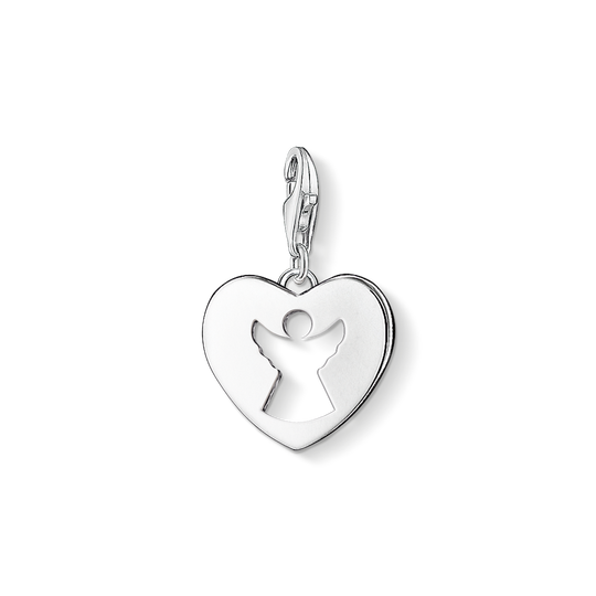 Charm pendant guardian angel heart from the Charm Club collection in the THOMAS SABO online store