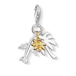 "Charm pendant ""palm tree, sun, plane"" from the  collection in the THOMAS SABO online store"
