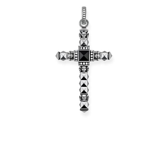 pendant black ethno cross small from the Rebel at heart collection in the THOMAS SABO online store