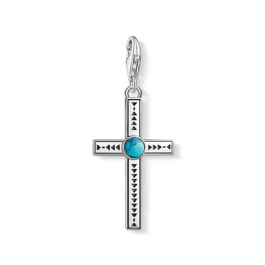 Charm pendant Ethnic Cross Turquoise from the Charm Club collection in the THOMAS SABO online store