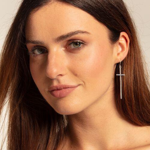 """Ohrring """"Kreuz silber"""" aus der  Kollektion im Online Shop von THOMAS SABO"""
