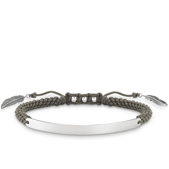 bracelet grey feather from the Love Bridge collection in the THOMAS SABO online store