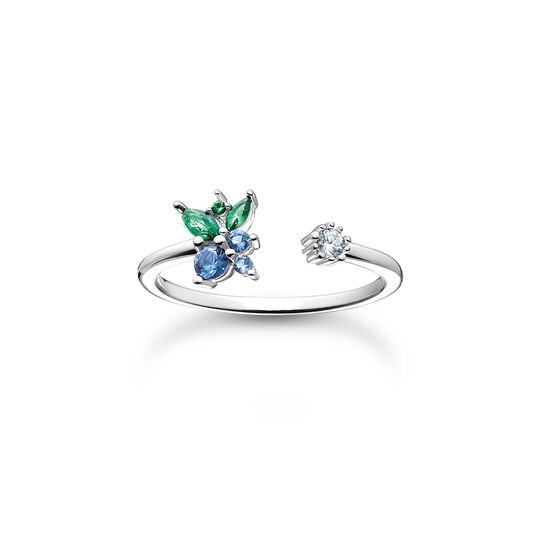 Ring blueberry silver from the Charming Collection collection in the THOMAS SABO online store