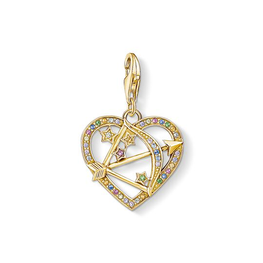 Charm pendant Cupid's Arrow, gold from the Charm Club collection in the THOMAS SABO online store