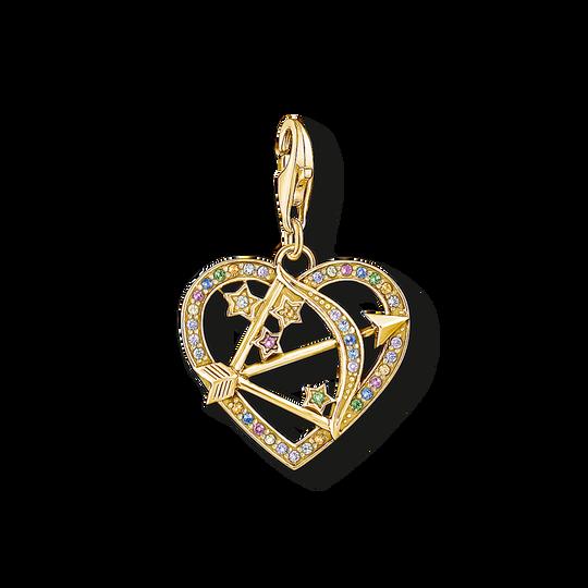 Charm-Anhänger Amors Pfeil gold aus der Charm Club Kollektion im Online Shop von THOMAS SABO
