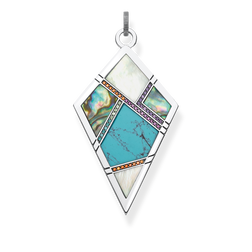 "pendant ""turquoise, mother-of-pearl"" from the Glam & Soul collection in the THOMAS SABO online store"