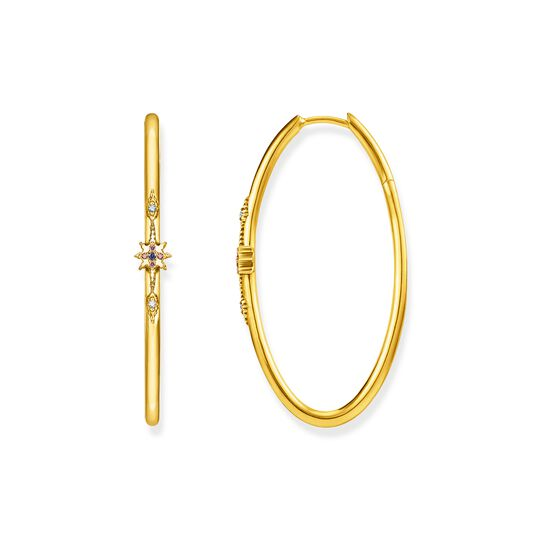 hoop earrings royalty gold from the  collection in the THOMAS SABO online store